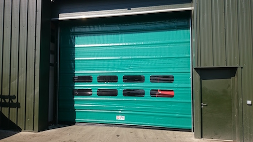 high speed doors reducing noise, odour and particle transfer