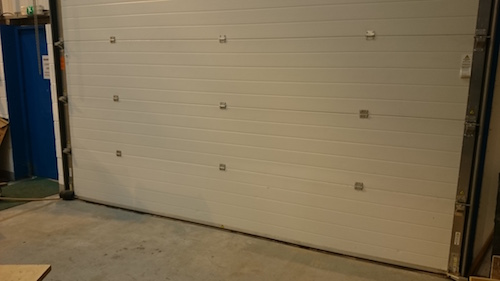 sectional overhead door from inside