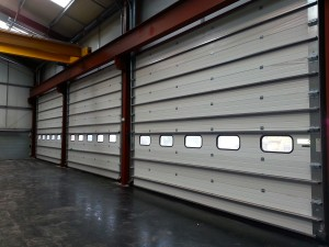 closed industrial sectional door