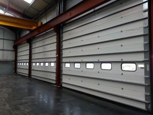closed industrial sectional door